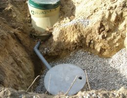 Połączenie oczyszczalni ze studnią chłonną