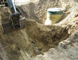 Wykop pod studnię chłonną